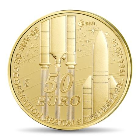 (EUR07.ComBU&BE.2014.10041286450000) 50 euro France 2014 Au BE - Europa Revers