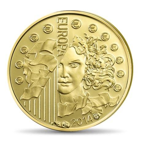 (EUR07.ComBU&BE.2014.10041286460000) 5 euro France 2014 Au BE - Europa Avers