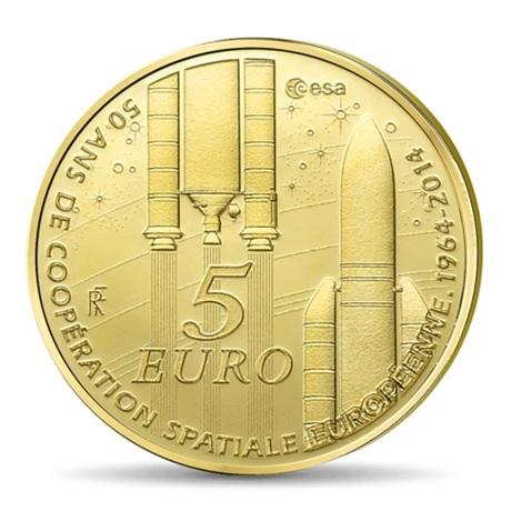 (EUR07.ComBU&BE.2014.10041286460000) 5 euro France 2014 Au BE - Europa Revers