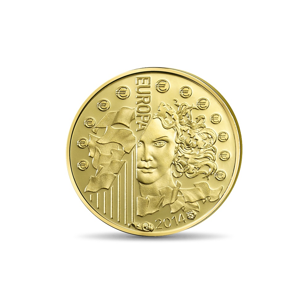 (EUR07.ComBU&BE.2014.10041286460000) 5 euro France 2014 Proof gold - Europa Obverse (zoom)