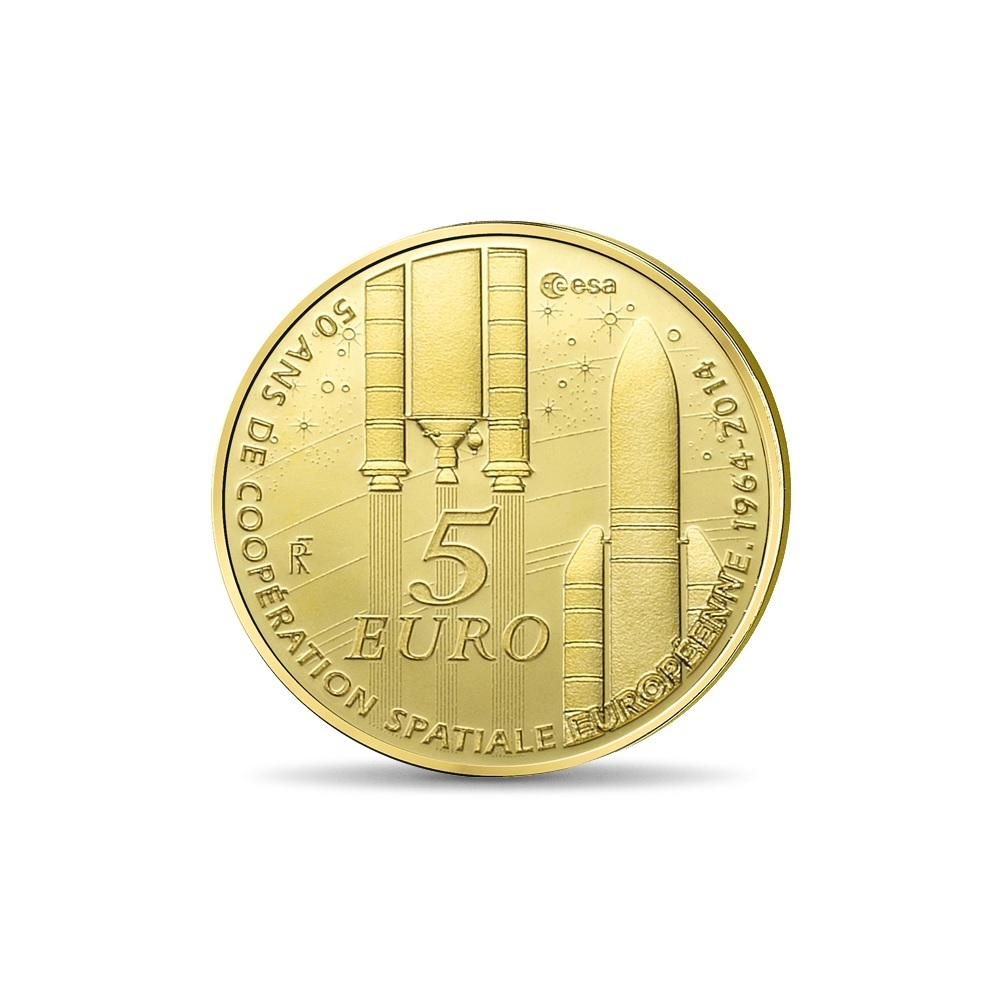 (EUR07.ComBU&BE.2014.10041286460000) 5 euro France 2014 Proof gold - Europa Reverse (zoom)