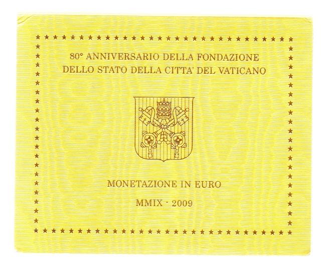 (EUR19.CofBU&FDC.2009.Cof-BU.000000002) BU coin set Vatican State 2009 Front (zoom)
