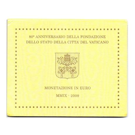 (EUR19.CofBU&FDC.2009.Cof-BU.000000002) Coffret BU Vatican 2009 Recto