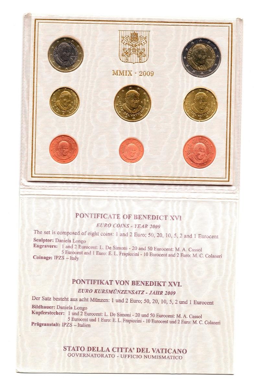 (EUR19.CofBU&FDC.2009.Cof-BU.000000003) BU coin set Vatican State 2009 (open) (zoom)