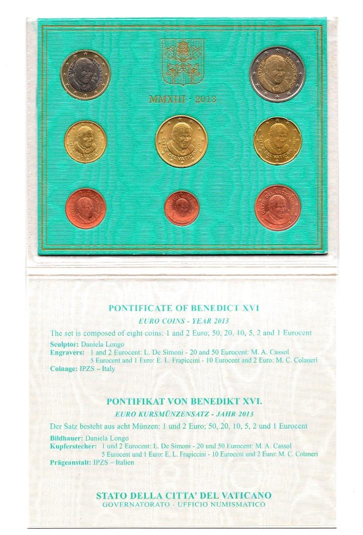 (EUR19.CofBU&FDC.2013.Cof-BU.000000003) BU coin set Vatican State 2013 (inside) (zoom)