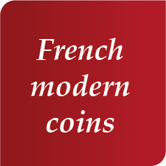 French modern coins