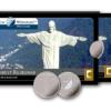 Packaging médaille argent 2007 - Statue du Christ Rédempteur