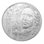 10 euro France 2014 argent BE - Jean-Philippe Rameau Revers