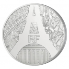 10 euro France 2014 argent BE - Tour Eiffel Avers