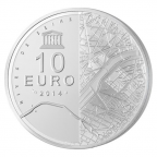 10 euro France 2014 argent BE - Tour Eiffel Revers