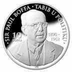 10 euro Malte 2013 argent BE - Paul Boffa Revers
