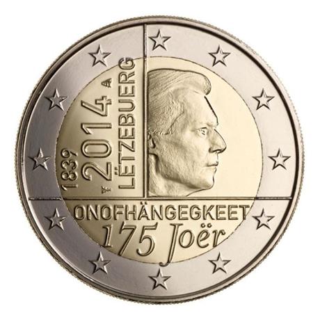 2 euro commémorative Luxembourg 2014 - Indépendance du Luxembourg