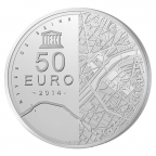 50 euro France 2014 argent BE - Tour Eiffel Revers
