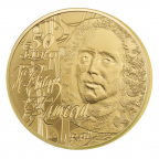 50 euro France 2014 or BE - Jean-Philippe Rameau Revers