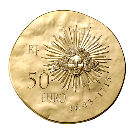 50 euro France 2014 or BE - Louis XIV Revers