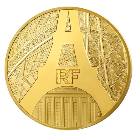50 euro France 2014 or BE - Tour Eiffel Avers