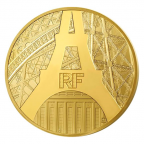 500 euro France 2014 or BE - Tour Eiffel Avers