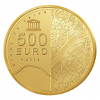 500 euro France 2014 or BE - Tour Eiffel Revers