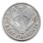 (FMO.1.1944_C.24.6.000000001) 1 Franc Francisque, légère 1944 C Avers