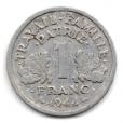 (FMO.1.1944_C.24.6.000000001) 1 Franc Francisque, légère 1944 C Revers