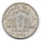 (FMO.1.1944_C.24.6.000000002) 1 Franc Francisque, légère 1944 C Revers