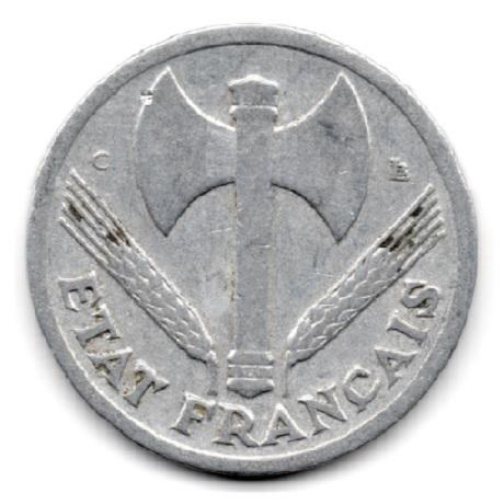 (FMO.1.1944_C.24.6.000000004) 1 Franc Francisque, légère 1944 C Avers