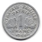 (FMO.1.1944_C.24.6.000000004) 1 Franc Francisque, légère 1944 C Revers