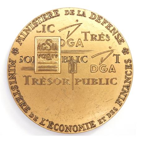 (FMED.Méd.MdP.CuZn-2.000000001) Médaille presse-papiers bronze florentin - Armement, Mauv. R
