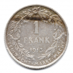 (W023.100.1913.1.1.000000001) 1 Franc 1913 Albert Ier - Légende flamande Revers (visuel 2)