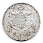 (W150.500.1945.1.1.000000002) 5 Francs Louis II 1945 Revers