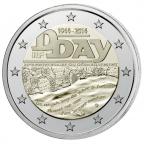 2 euro commémorative France 2014 BE - Débarquement allié en Normandie Avers
