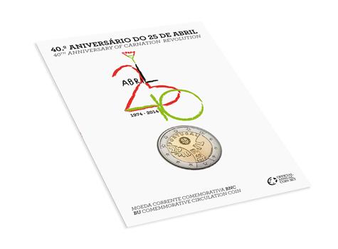 2 euro commémorative Portugal 2014 BU - Révolution des Oeillets (visuel complémentaire)
