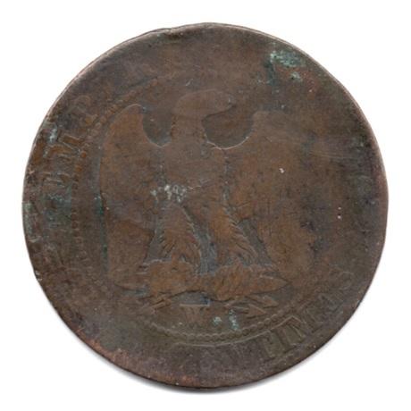 (FMO.005.1855_W.4.29.1.000000001) Napoléon III, Tête nue 1855 W (différent non identifiable) Revers