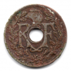 (FMO.005.1924.10.7.000000001) 5 centimes Lindauer, petit module 1924 Avers