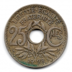 (FMO.025.1928.15.12.000000001) 25 centimes Lindauer 1928 Revers