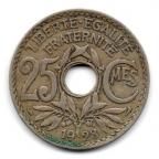 (FMO.025.1928.15.12.000000001) 25 centimes Lindauer 1928 Revers