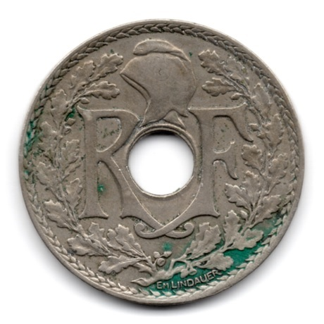 (FMO.025.1932.15.16.000000001) 25 centimes Lindauer 1932 Avers