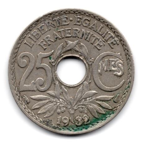 (FMO.025.1932.15.16.000000001) 25 centimes Lindauer 1932 Revers