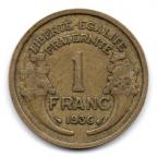 (FMO.1.1936.20.6.000000001) 1 Franc Morlon 1936 Revers