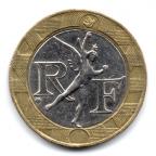 (FMO.10.1990.16.4.000000001) 10 Francs Génie de la Bastille 1990 Avers