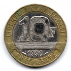 (FMO.10.1990.16.4.000000001) 10 Francs Génie de la Bastille 1990 Revers