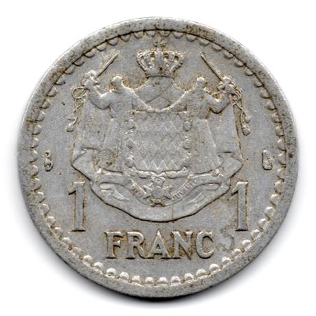 (W150.100.1943.1.1.000000001) 1 Franc Louis II 1943 Revers