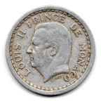 (W150.100.1943.1.1.000000002) 1 Franc Louis II 1943 Avers