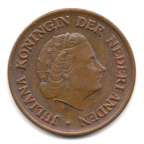 (W172.005.1976.1.1.000000001) 5 Cent Juliana 1976 Avers