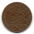 (W208.001.1937.1.1.000000001) 1 Öre Monogramme de Gustave V 1937 Avers