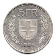 (W209.500.1984.1.2.000000001) 5 Francs Berger des Alpes 1984 Revers
