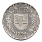 (W209.500.1984.1.2.000000001) 5 Francs Berger des Alpes 1984 Revers
