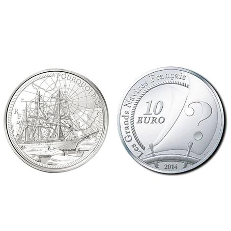 10 euro France 2014 argent BE - Le Pourquoi Pas (visuel supplémentaire)