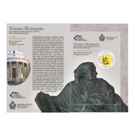 2 euro commémorative Saint-Marin 2014 - Bramante Lazzari (visuel complémentaire 3)