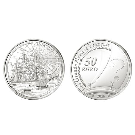 50 euro France 2014 argent BE - Le Pourquoi Pas (visuel supplémentaire)